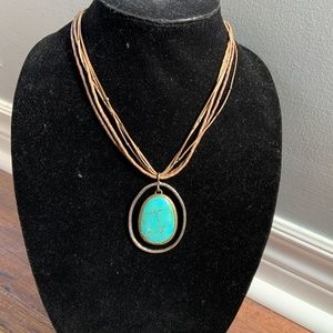 Silpada Retired N1804 Howlite Pendant Sterling Necklace
